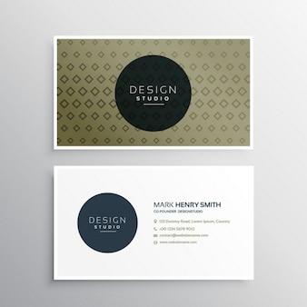 Clean adreskaartjesjabloon met abstracte geometrische vormen patroon