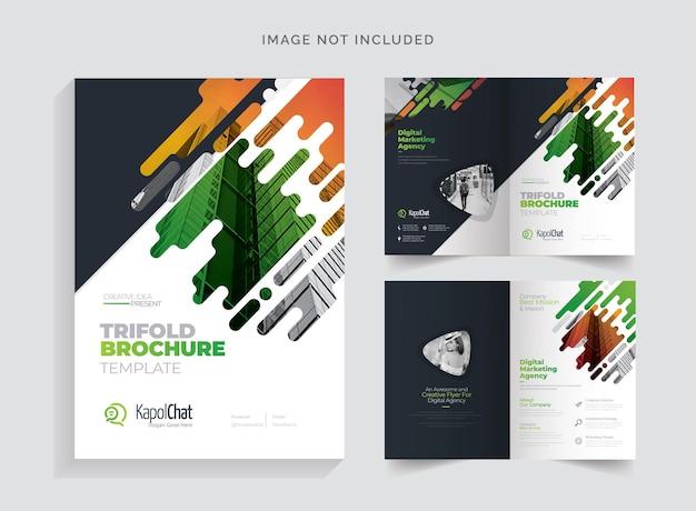 Clean bifold-brochure