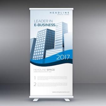 Clean modern roll up banner sjabloon voor uw bedrijf