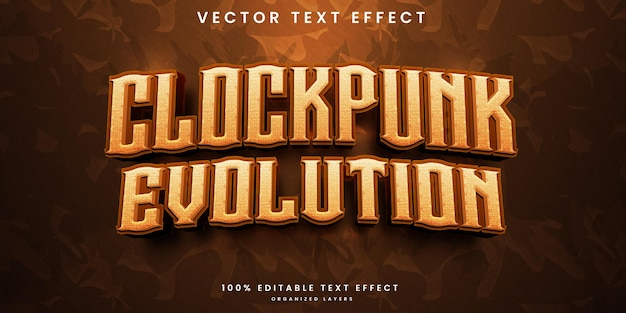Clockpunk bewerkbaar teksteffect