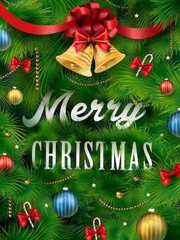 Close-up kijken naar kerstboom en prachtige decoraties