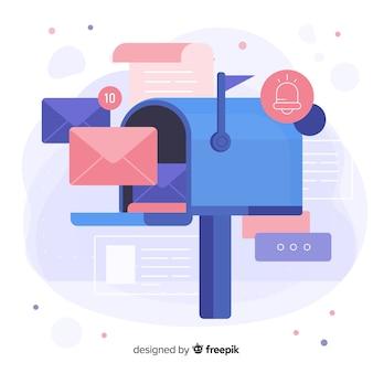 Close-up mailbox concept voor bestemmingspagina's