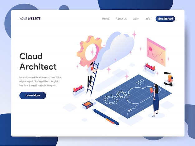 Cloud architect banner van bestemmingspagina