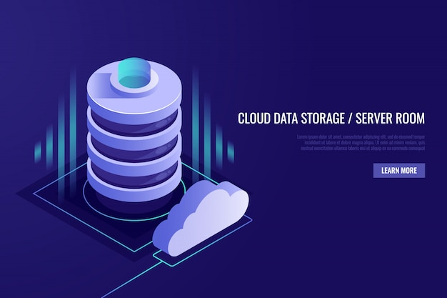 Cloud computing-concept. webhosting en cloudtechnologie.