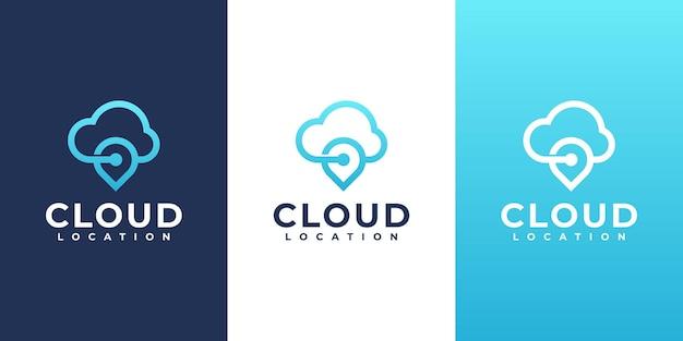 Cloud computing en locatie teken vector ontwerp