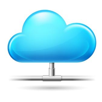 Cloud computing. illustratie op witte achtergrond