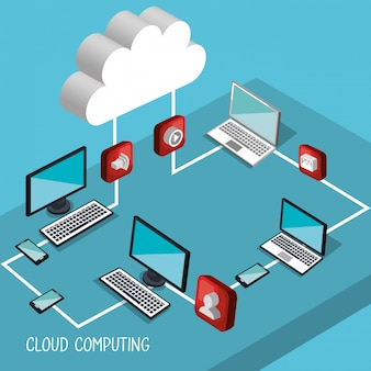 Cloud computing illustratie