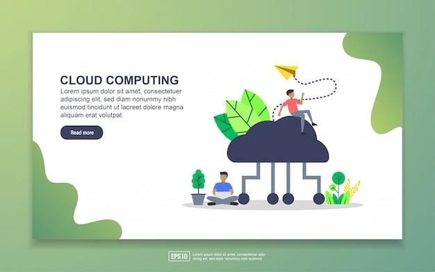 Cloud computing met bestemmingspagina's voor kleine mensen