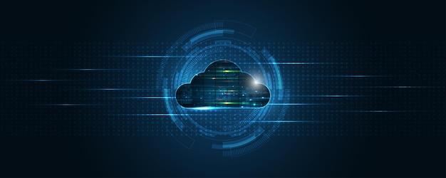 Cloud computing opslag technologie achtergrond digitale data services innovatie concept