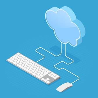 Cloud computing-technologie isometrisch