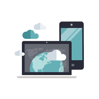 Cloud databeveiliging en hosting concept