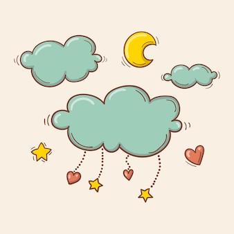 Cloud en mobiel geïsoleerd pictogram