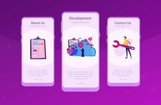 Cloud engineering app interface sjabloon.