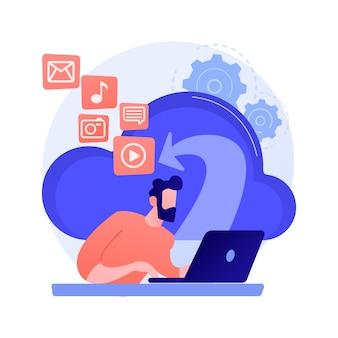 Cloud gebaseerde motor abstracte concept illustratie