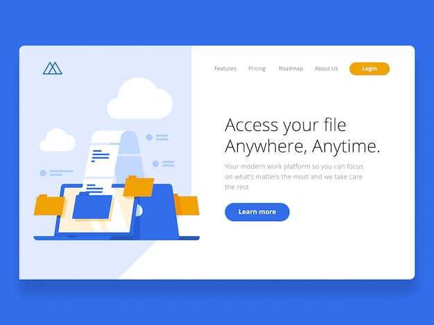 Cloud landing page held afbeelding
