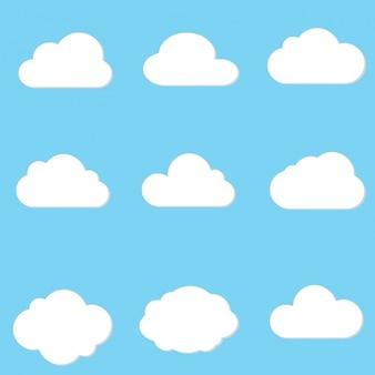 Cloud ontwerpt collectie