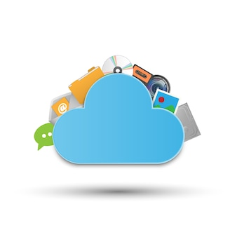 Cloud opslagsysteem technologie concept