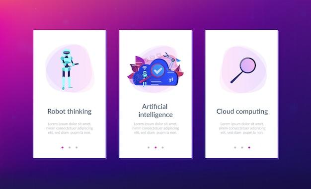Cloud robotica app interface sjabloon.
