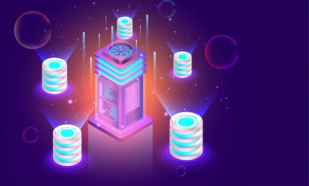Cloud servers concept.