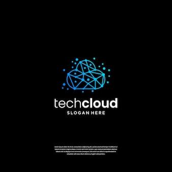 Cloud tech logo ontwerp inspiratie