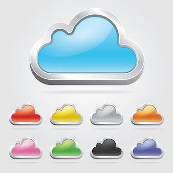 Cloud technologie set