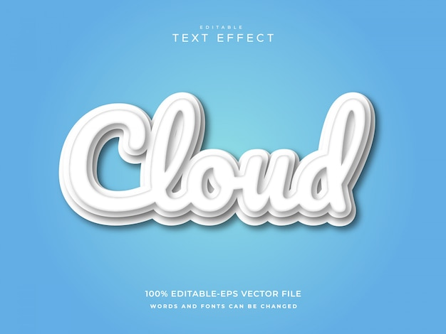 Cloud teksteffect