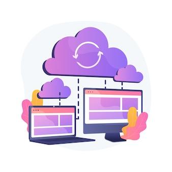 Cloud verbinding abstract concept illustratie