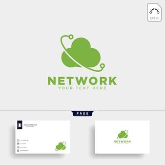 Cloud verbinding logo sjabloon vectorillustratie