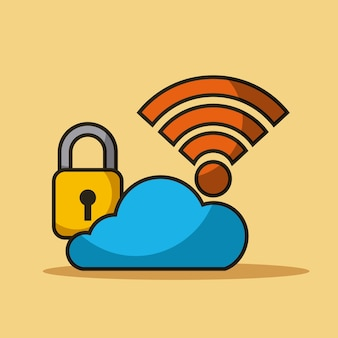 Cloudbeveiligingsgegevens internetverbinding opslag