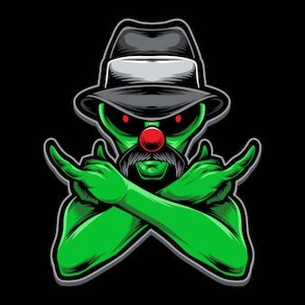 Clown alien