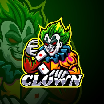 Clown esport logo mascotte
