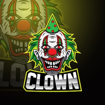 Clown esport mascotte logo