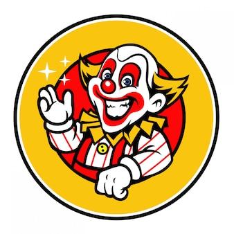 Clown groet ontwerp