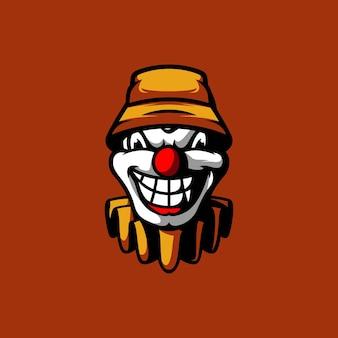 Clown hoed mascotte esport