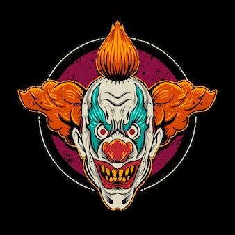 Clown illustratie met cirkel
