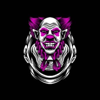 Clown illustratie ontwerp