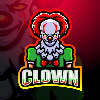 Clown mascotte esport illustratie