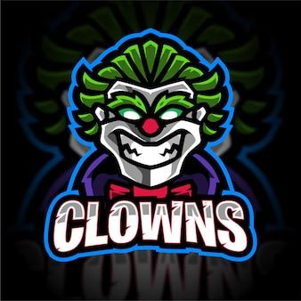 Clown mascotte gaming-logo