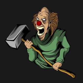 Clown's grote hamer