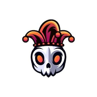 Clown schedel logo ontwerp
