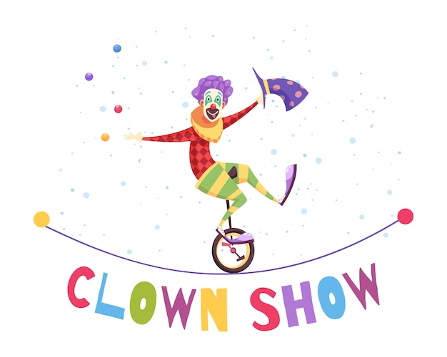 Clown show illustratie