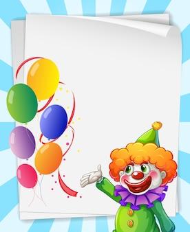 Clown uitnodiging