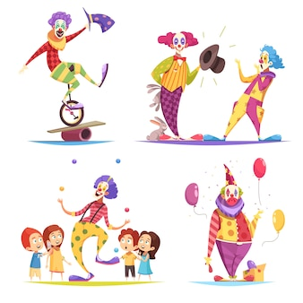 Clowns tekenset