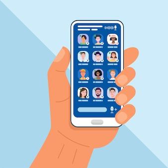 Clubhuis app illustratie