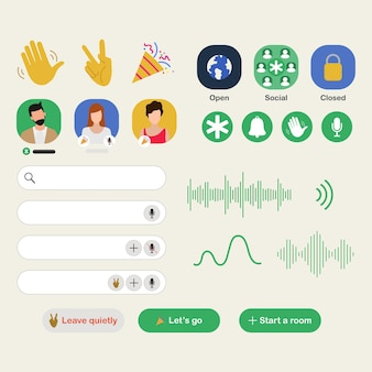 Clubhuis-app voor drop-in audiochat-applicatie op smartphone.