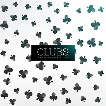 Clubs symbool patroon achtergrond