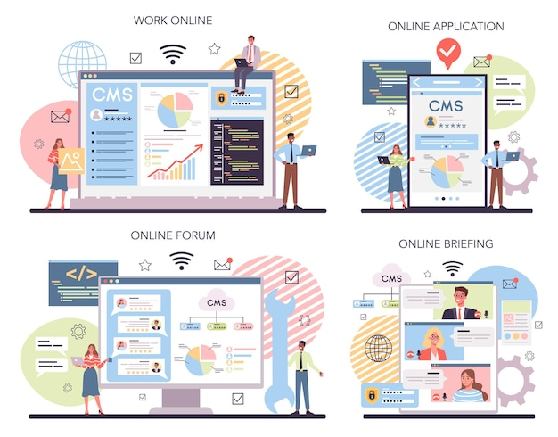 Cms online service of platformset