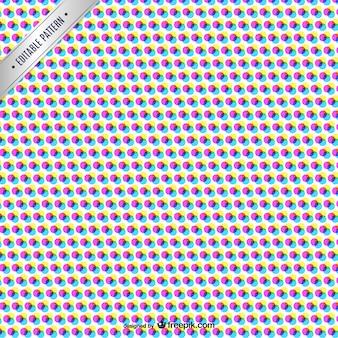 Cmyk abstract patroon met gekleurde stippen