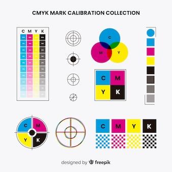Cmyk-kalibratie-elementverzameling