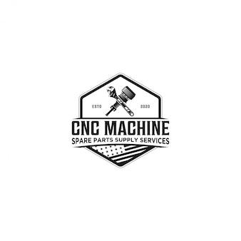 Cnc machine service sparepart logo